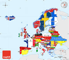 map erope flag simple map of europe single color outside