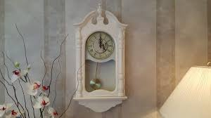 shabby chic pendulum wall clocks for sale u2013 home decor lamps etc