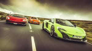 koenigsegg vs lamborghini aventador mclaren 675lt vs lamborghini aventador sv vs 911 gt3 rs top gear