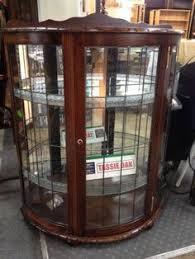 Corner Glass Display Cabinet Ebay Antique Georgian Style Corner Cabinet Astragal Glass Bow Front