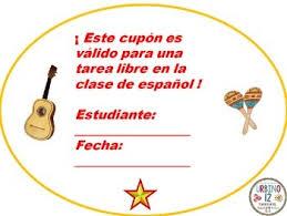 spanish class free homework passes