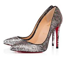 christian louboutin silver sequin pigalle follies 100 pumps size