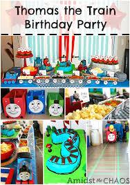 thomas train birthday party chaos