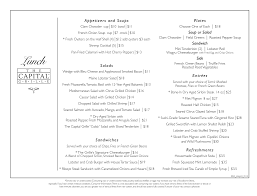 menu for the capital grille 6000 west glades rd