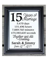 15 year anniversary ideas 15th wedding anniversary cotton print 15th wedding gift 15