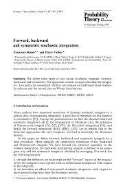 forward backward and symmetric stochastic integration