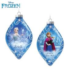 disney frozen tree ornaments set one let it go and