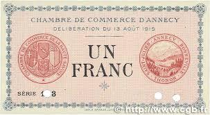 chambre de commerce d annecy 1 franc regionalism and miscellaneous annecy 1915 jp 010 03