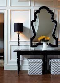 Black Console Table With Storage Ottomans Under Console Table Design Ideas