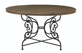 round dining table top and metal dining table base bernhardt