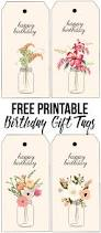 floral printable birthday gift tags live laugh rowe