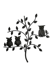 Owl Wall Decor by Ganz Metal Owl Wall From Kentucky By All The Comforts Of Home