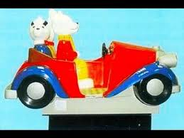 omc rupert bear car kiddy ride