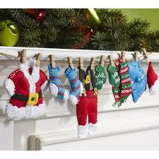 Seasonal Home Decorations Bucilla Seasonal Felt Home Decor Santa U0027s Laundry Garland