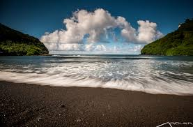 black sand beach archer shoots hawaii photography