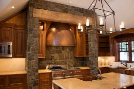 wood and stone wall design columns interior house write spell trim