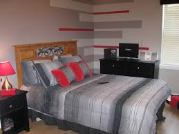 gray and red bedroom awesome boys bedroom ideas with red and grey stripes colour theme