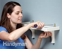simple low tech wall shelf plans family handyman