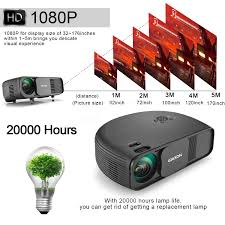 laser home theater projector gigxon g760 3200 lumens portable 1080p movie projector led lcd hd