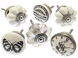 boutons de portes de cuisine boutons de porte céramique style chic vintage ensemble mixte de