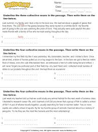 identify collective nouns in the passage worksheet turtle diary