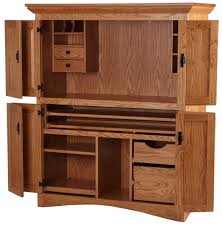 Natural Wood Computer Desk Furniture Astonishing Computer Armoire Cabinet To Facilitate Your