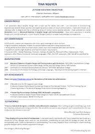 Design Resume Sample Resume Sample For Graphic Design Job Template