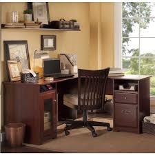 60 Inch Writing Desk by Bush Cabot 60 Inch L Desk Wc31430 03k