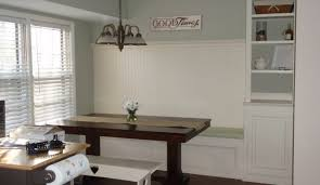 kitchen table rectangular corner with storage bench glass
