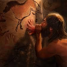 cave men painting on walls interesting perspective junk i dig