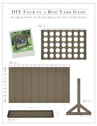 Building Plans Diy Backyard Game Four In A Row The Home Depot