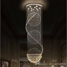 Light Fixtures Chandeliers Led Crystal Chandeliers Lights Stairs Hanging Light Lamp Indoor