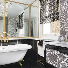 Modern Bathroom Trends Modern Bathroom Design And Decorating With Wallpaper Pretentious