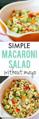 Easy Salad Recipe by Simple Macaroni Salad Recipe Without Mayo The Pretty Bee