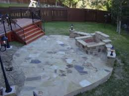 Stone Patio With Fire Pit 9 Inspiring Slate Patio Design Ideas