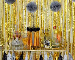 new year s decor silver gold new years bar cart styling made in a day