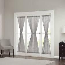 Sheer Door Curtains Madison Park Iris Diamond Sheer Door Curtain Panel Free Shipping