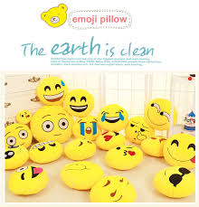 clean emoji funny cute emoji pillow plush toy coussin cojines emoji gato emotion