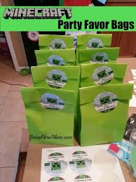 minecraft goody bags minecraft birthday party printables decorations and food
