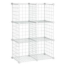 honey can do 44 75 in x 30 25 in white 6 cube modular mesh