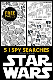 star wars spy activities free printable pages