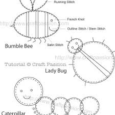 garden bugs appliques free pattern tutorial craft