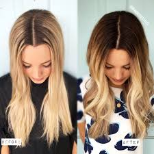 Dark Hair Colors And Styles Demarcation Line To Melted Blonde Formula Included Styles
