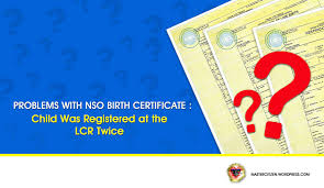 birth certificate correction sample letter problems with nso birth certificate child was registered at the problems with nso birth certificate child was registered at the lcr twice mastercitizen s blog