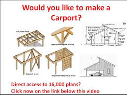 Building An Attached Carport Carport Plans Drawings From A Carport Click Here Carport Plans
