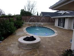 Stone Firepit by Fire Pits For Pool And Deck Alan Smith Pools Orange Ca