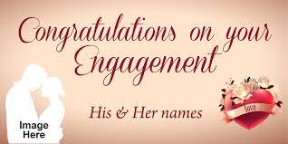congratulations engagement banner engagement banner chagne