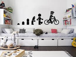 Cycling Home Decor Evolution Of The Cycling Lego Wall Sticker Childrens Vinyl