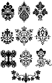 design ornate elements vector using one of these on seat of
