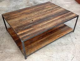wood metal end table wood coffee table